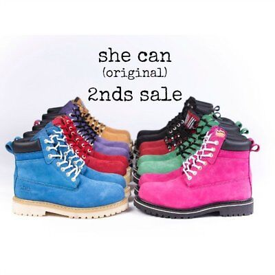 she can : womens safety work boots (original) ~ warehouse 2nds