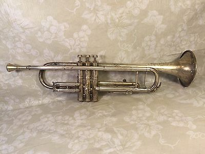 Antique M J Kalashen Trumpet with Case & Same Maker Mouthpiece