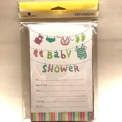 Baby Shower Invitations American Greetings Pink Green