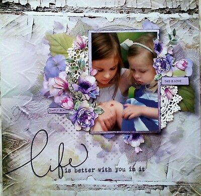 12 x 12 Handmade Scrapbook Page - Life Is Better With You In It