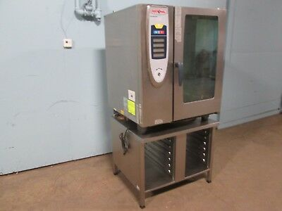 """RATIONAL SCC 101G"" COMMERCIAL H.D. (NSF) NATURAL GAS ""SMART"" COMBI OVEN w/STAND"