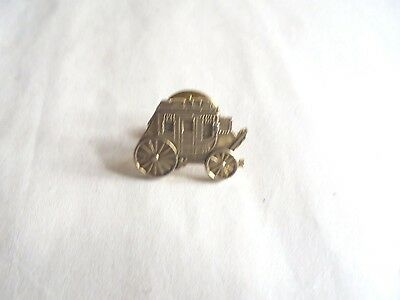 Cool Vintage Detailed Western Cultural Figural Stagecoach Lapel Pin Pinback