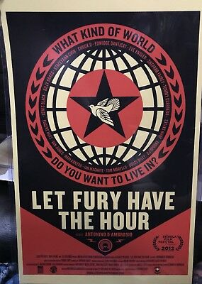 Shepard Fairey Obey Giant Let Fury Have The Hour Film Doc Art Print Poster 11x17