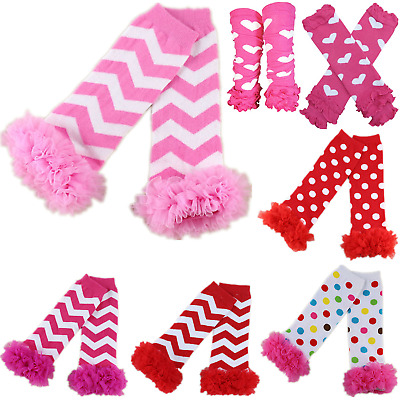 Cute Cotton Rainbow Warm Socks Knitted Leg Warmers Tights For Baby Toddler Girl