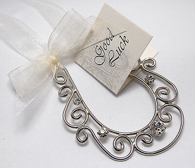 Wedding Good Luck Charm Bridal Keepsake - Unique Aussie Horseshoe Crystal Design