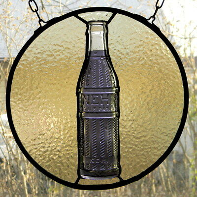Stained Glass with Vintage Grape Nehi Bottle
