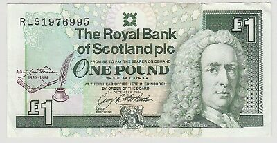 1994 £1 One Pound The Royal Bank Of Scotland Plc  Note Circulated 995