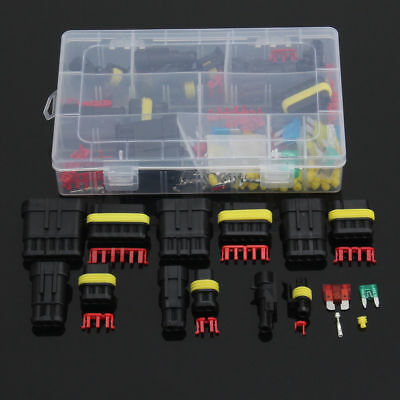 40x Motorcycle Car Electrical 2.8mm 2/3/4/6 Pin Wire Connectors Terminal Kits