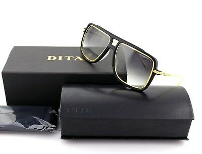 4d94ea28c39 New Authentic DITA WESTBOUND Aviator Matte Black Gold Grey Sunglasses 19015 -A