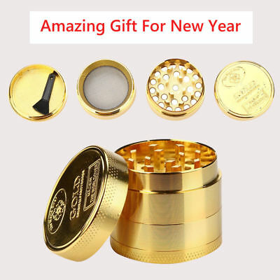 NEW Luxurious Tobacco Herb Spice Grinder Herbal Alloy Smoke Metal Crusher Gift