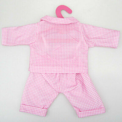 Pink Check Pajamas Set for 18'' American Girl Our Generation My Life Dolls
