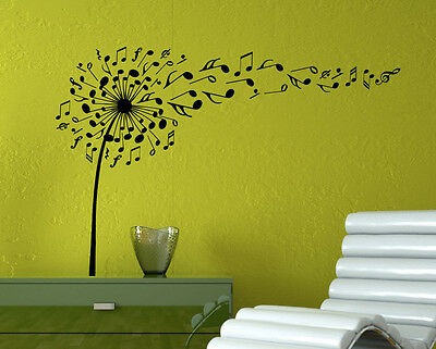 MICROPHONE MIC MUSIC Musical Notes Art Words Wall Sticker Home Decor ...