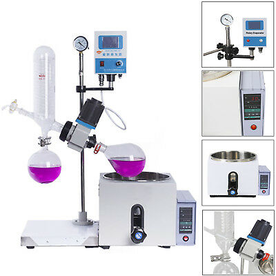 2L 0-99℃ 0-120rpm New Lab Rotary Evaporator w/Motor Lift Digital Heating Bath