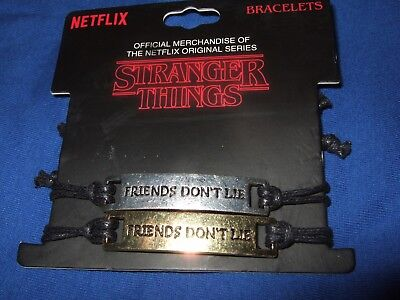 Netflix Stranger Things Friends Don't Lie Best Friend Cord Bracelet Set Licensed