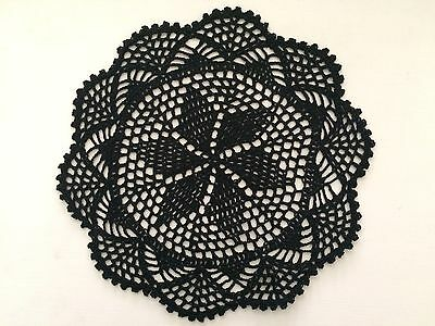 30 Cm New Black Crochet Lace Doily