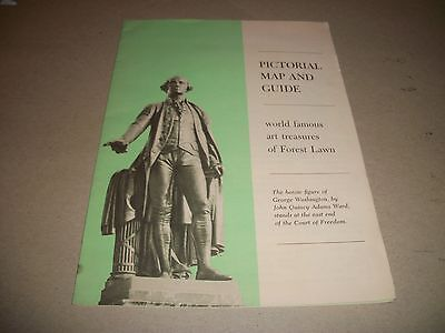 1962 Forest Lawn Memorial Park guide map (Glendale, California)