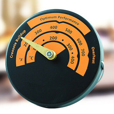 Fast Read Magnetic Wood Stove Pipe Environmental Friendly Fireplace Thermometer