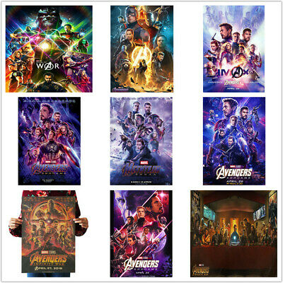 Avengers 4 Endgame 3 Infinity War Stills Thanos Iron Man Kraft Paper Posters