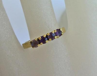 Amethystring Ring mit Amethyst  Antik in aus 18Kt 750 Gold Finger Damen Gr. 56