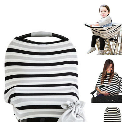 Mum Breastfeeding Poncho Cover Up Baby Car Seat Stroller Cover Cotton Shawl
