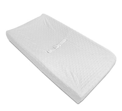American Baby Company Heavenly Soft Minky Dot Fitted Contoured Changing Pad C...