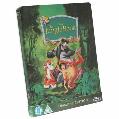 The Jungle Book [Steelbook] (ohne dt. Ton) [Blu-ray] NEU / sealed / not perfect