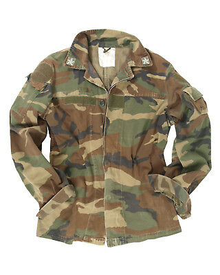 967f6443f2f Genuine Italian Army Issue Military Combat Camouflage Field Shirt Jacket  Used
