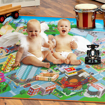 Creative Baby Toddler Kid Crawl Carpet Playing Climbing Blanket Traffic Map Mat