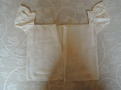 ANTIQUE VICTORIAN  BABY'S SHIRT CHEMISE lace trim, all hand stitched