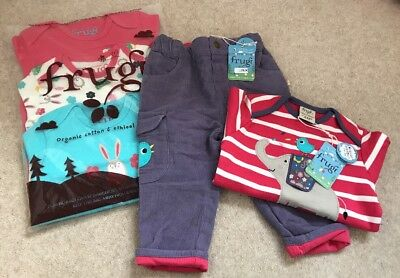 Frugi Bundle Trousers Vests And T-shirt 6-12m New