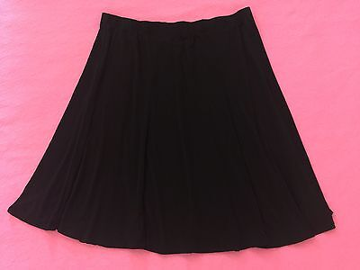 EUC Flirty Large MOTHERHOOD Maternity Stretchy BLACK Elastic-waist Flared Skirt