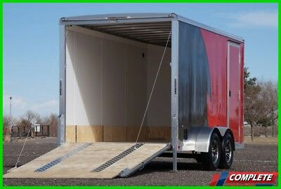 NEW Aluminum 7 X 14 V-Nose Enclosed Motorcycle UTV Trailer: Height, Tie Downs