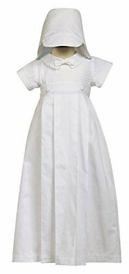100% Cotton White Weaved Romper with Detachable Gown - Size L 12-18 Month
