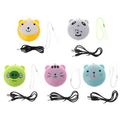 Cartoon Portable Mini Pocket Hand Warmer USB Rechargeable Heating Winter Warmer