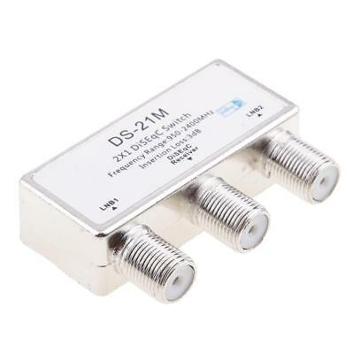2x1 DiSEqC Switch Satellite Antenna Flat LNB Switch for TV Receiver