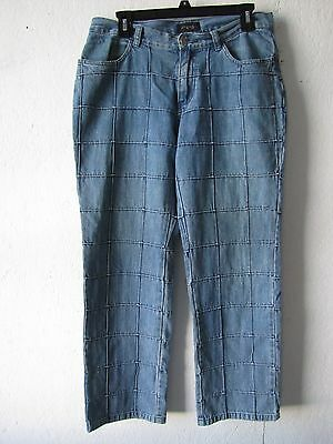 "Vintage LEE RIDERS Patchwork Denim Jeans 32"" Waist 28"" Inseam"
