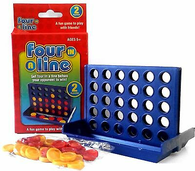 MINI Four In A Line Connect Game Kids Party Favor Travel Size Novelty Toy Gift