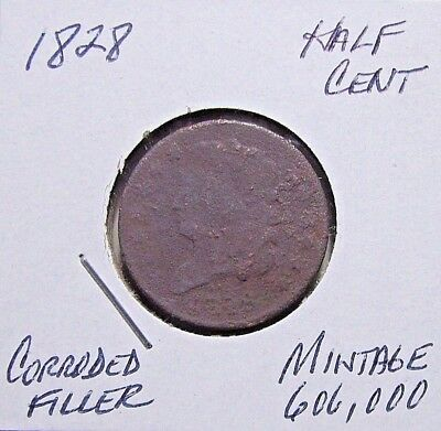 1828 Half Cent (Classic Head)***Entry Or Filler...Ground Find***