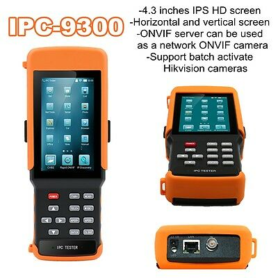 "IPC-9300 4.3"" Horizontal Vertical IP Camera Monitor CCTV Tester PoE Output New"