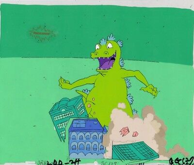 RUGRATS Production Cel Cell Original Animation Art Nickelodeon Reptar!