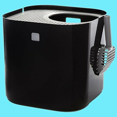 NEW Modko ModKat Cat Litter Box Tray Lid Hooded Toilet Top Entry With Scoop