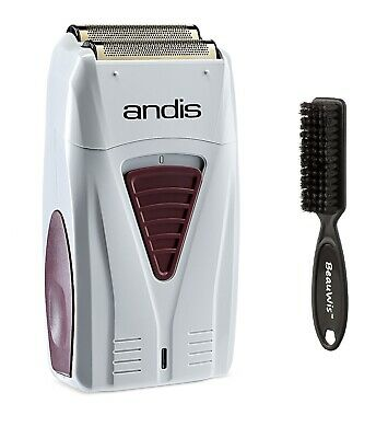 Andis Foil Shaver Men's Long Lasting Lithium Battery Titanium with a Brush