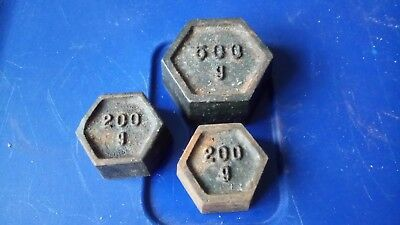 six sided Brass metric Weights