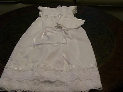 Handmade 0-3 months Christening Gown and cap