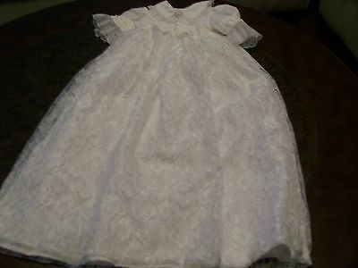Handmade 0-6 months Christening Gown and Hat