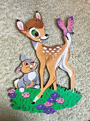 Vintage Disney Bambi Wall Hanging w/other characters and Jack and Jill bonus!