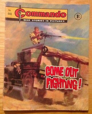 Commando Comic Number 448 Good Condition For Age War Comic 1969