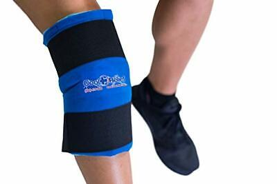 Reusable Knee Hot Cold Gel Ice Wrap with Compression by: Cool Relief