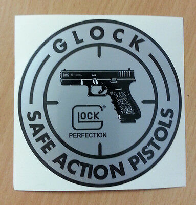GLOCK Glock Aufkleber Sticker Safe Action Pistols Perfection