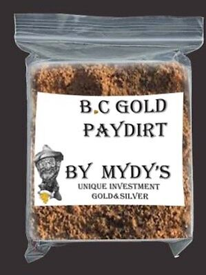 2 Lbs BC Gold Paydirt Unsearched and 100% Added GOLD! Panning Nuggets (#3920)